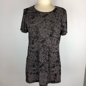 **Buckle BKE Womens Shirt Sz XL Sheer Short Sleeve